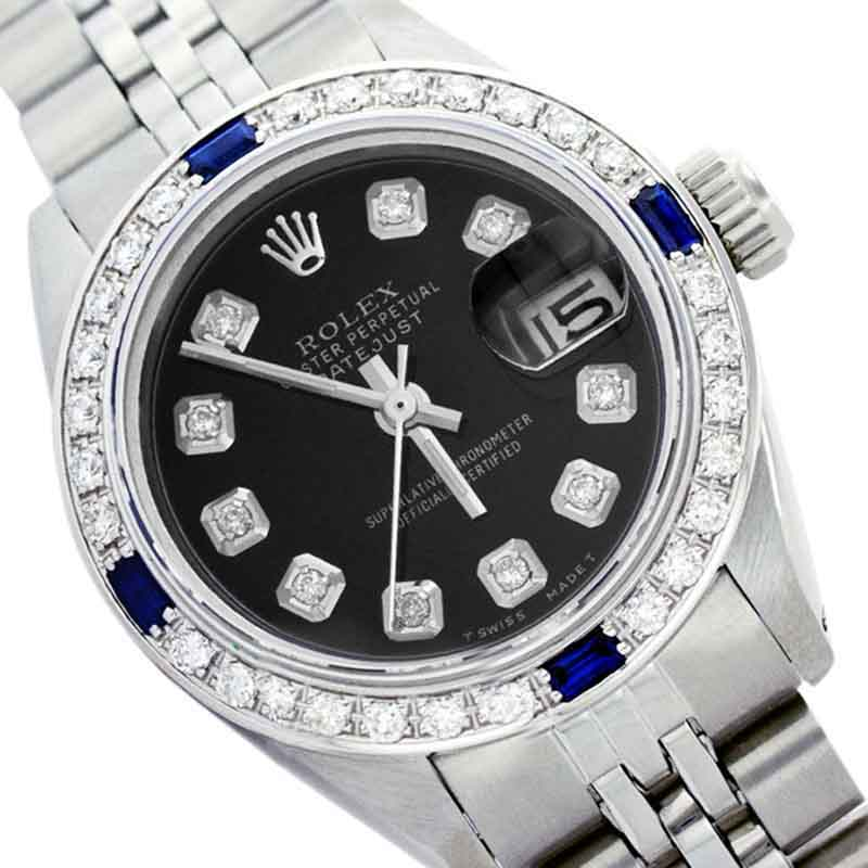 """Image of """"Rolex Datejust 16014 Stainless Steel & 18K White Gold Black Dial"""""""