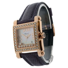 Chopard Happy Sport 18K Rose Gold & Diamond Mother Of Pearl Womens Quartz Watch