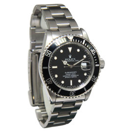Rolex Submariner 16800 Date Stainless Steel Black Dial/Bezel Mens Watch