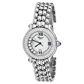 Chopard 27/8236-23 Diamonds Happy Sport Stainless Steel Watch