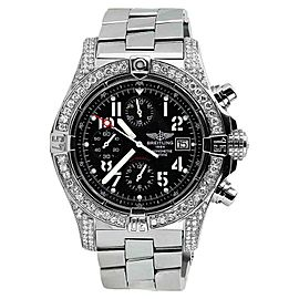 Breitling Aeromarine Avenger Seawolf Chrono A73390 Black Face Womens Watch