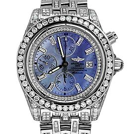 Breitling A13356 Evolution Blue MOP Dial 18ct Diamond Mens Watch