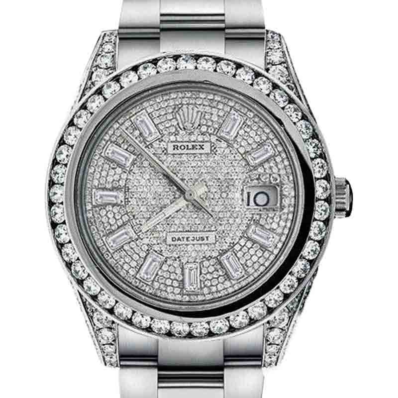 "Image of ""Rolex Datejust II XL Diamond Stainless Steel Mens Watch"""
