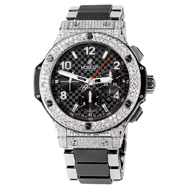 "Image of ""Hublot Big Bang 301.sb.131.sb Black Carbon Pattern Dial Steel Ceramic"""