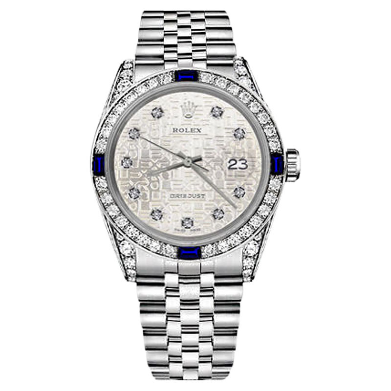 "Image of ""Rolex Datejust Silver Jubilee Metal Plate Dial Sapphire & Diamond 31mm"""