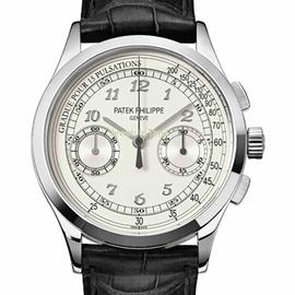 Patek Philippe 18K White Gold Chronograph 5170G 39.4mm Watch
