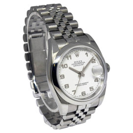 Rolex Datejust 116200 Stainless Steel White Dial 36mm Watch
