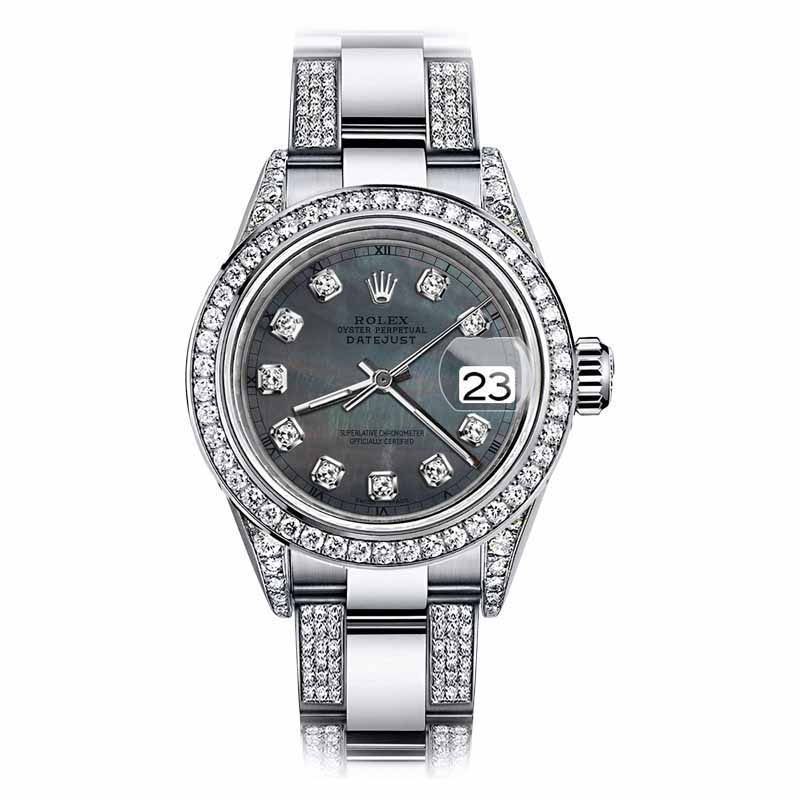"""Image of """"Rolex Oyster Perpetual Datejust Stainless Steel Blue Color Diamond"""""""