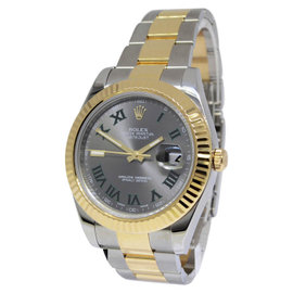 Rolex Datejust II 18K Yellow Gold/Stainless Steel Green Numbers 41mm Watch