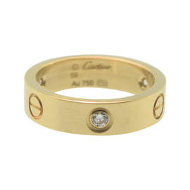 Cartier Love 18K Yellow Gold 0.22ct Diamonds Ring Size 8.75