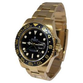 Rolex GMT-MASTER II 116718 18K Yellow Gold & Ceramic Mens Watch