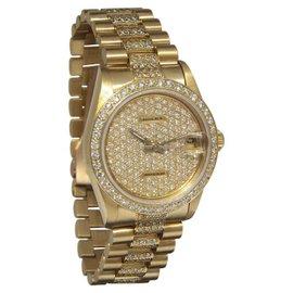 Rolex Datejust 68278 President 18K Yellow Gold Diamond 31mm Womens Watch