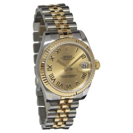 Rolex Datejust 178273 18K Yellow Gold & Stainless Steel Champagne 31mm Watch