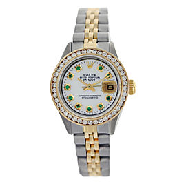 Rolex Datejust Oyter Perpetual 18K Yellow Gold Two Tone With Mother of Pearl Dial 26mm Womens Watch