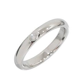 Tiffany & Co. Elsa Peretti Platinum 0.01 Ct Diamond Ring Size 4.75