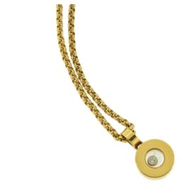 Chopard Happy 18K Yellow Gold and Diamond Pendant Necklace