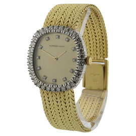 Audemars Piguet 18K Yellow Gold Diamond Bezel & Dial Vintage Womens Watch