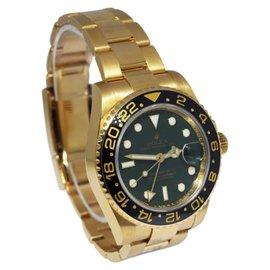 Rolex GMT-Master II 116718 18K Yellow Gold Ceramic Green Dial 40mm Watch