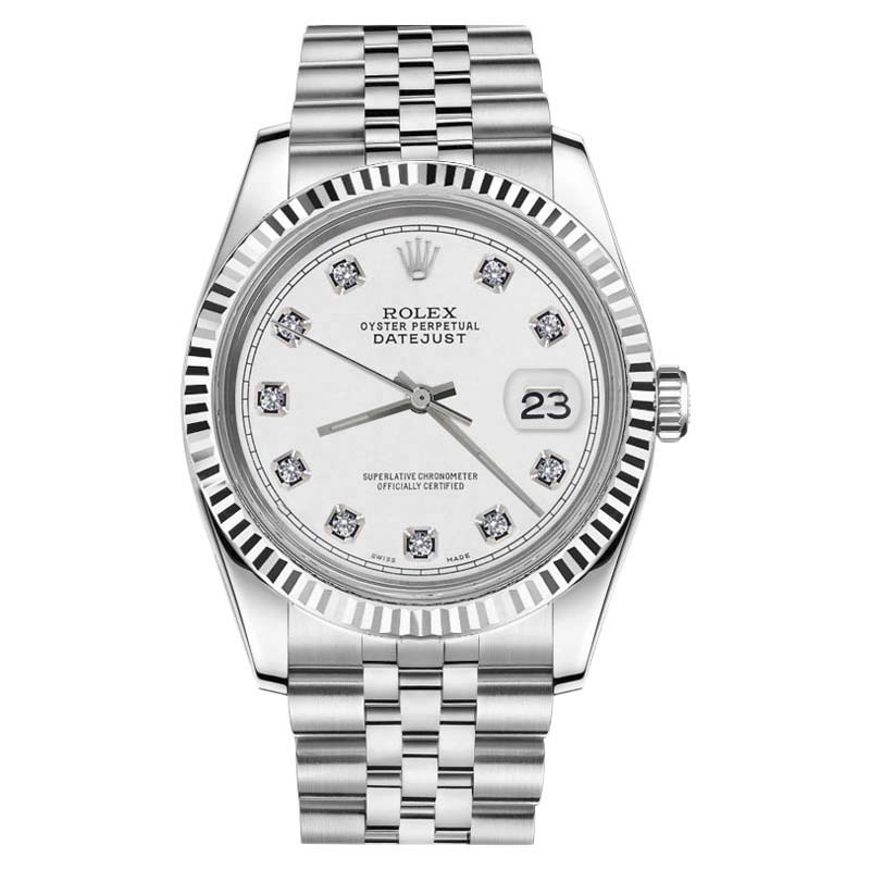 "Image of ""Rolex Datejust White Face 18K Gold/Stainless Steel Jubilee with"""