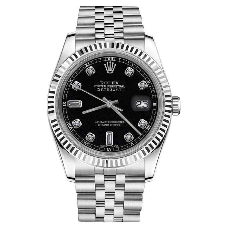 "Image of ""Rolex Datejust Stainless Steel Diamond 36mm Unisex Watch"""