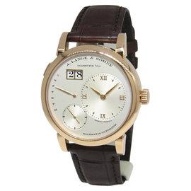 A. Lange & Sohne Lange 1 Daymatic 320.032 18K Rose Gold & Leather 39.5mm Watch