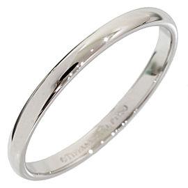 Tiffany & Co. Platinum Simple Wedding Ring Size 8