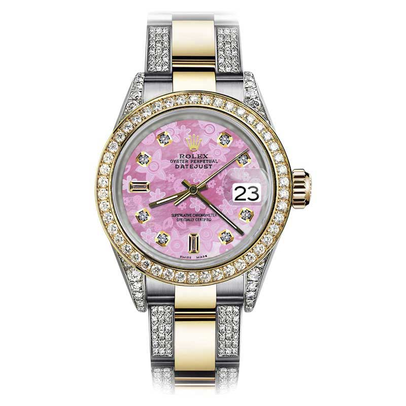 "Image of ""Rolex Oyster Perpetual Datejust Stainless Steel/ 18K Gold With Pink"""