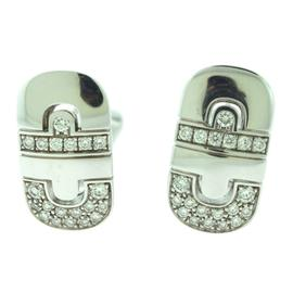 Bulgari Bulgari Parentesi 18K White Gold Diamond Gold Earrings