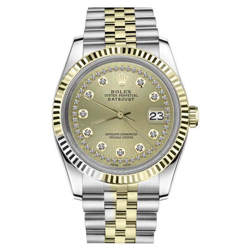 """Image of """"Rolex Datejust 18K Yellow Gold & Stainless Steel Two Tone String"""""""