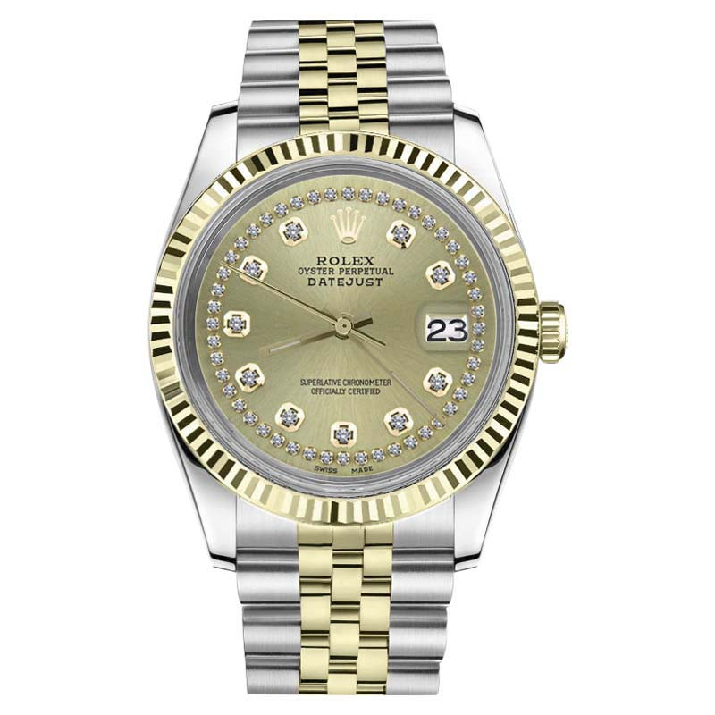 "Image of ""Rolex Datejust 18K Gold & Stainless Steel Two Tone Champagne Jubilee"""