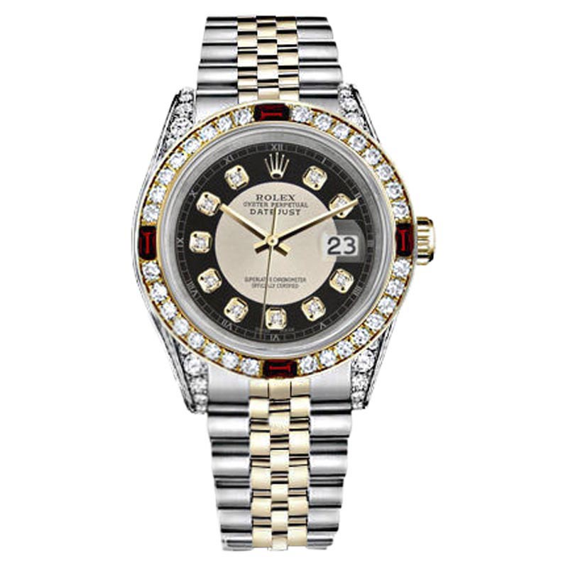"""Image of """"Rolex Datejust Stainless Steel/ 18K Yellow Gold With Black Tuxedo"""""""
