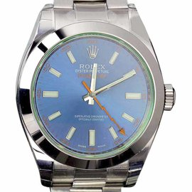 Rolex Milgauss 116400GV Stainless Steel Oyster Perpetual Blue Dial 40mm Watch