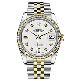 Rolex Datejust Stainless Steel/ 18K Gold White 8+2 Diamonds Jubilee 36mm Unisex Watch