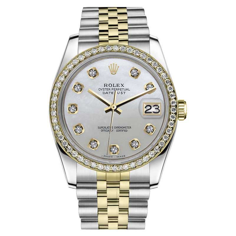"Image of ""Rolex Datejust Stainless Steel/ 18K Gold w/ Diamonds Jubilee 36mm"""
