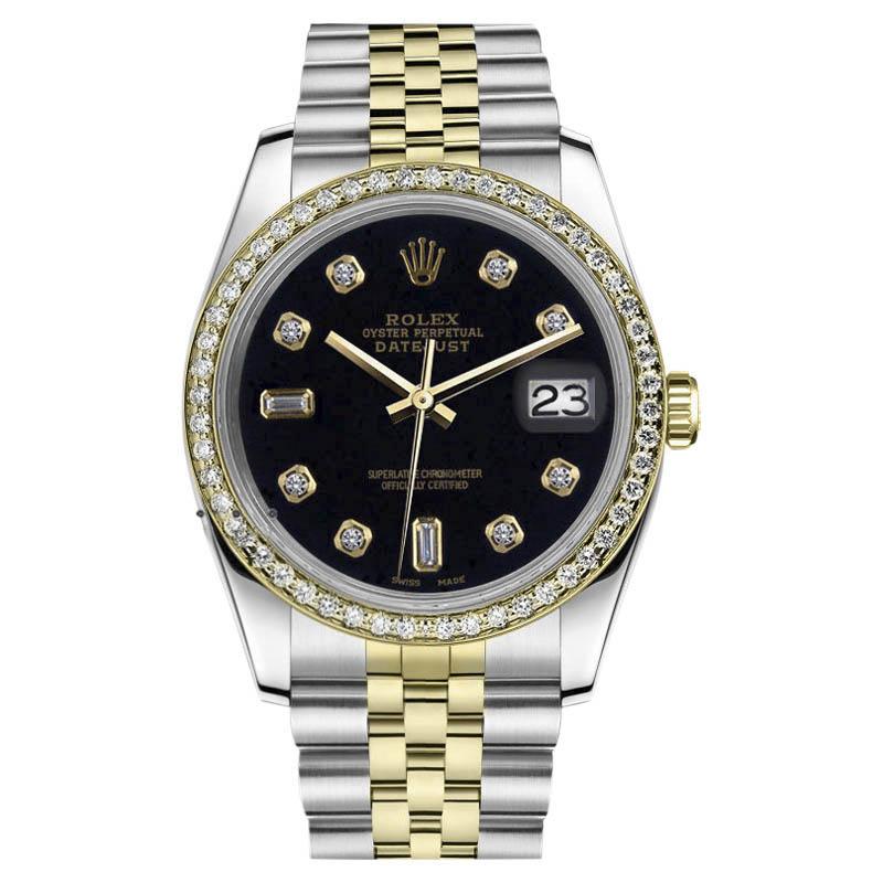 "Image of ""Rolex Datejust 18K Yellow Gold & Stainless Steel Black Diamond Jubilee"""