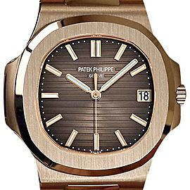 Patek Philippe Nautilus 18K Rose Gold Automatic 40mm Mens Watch