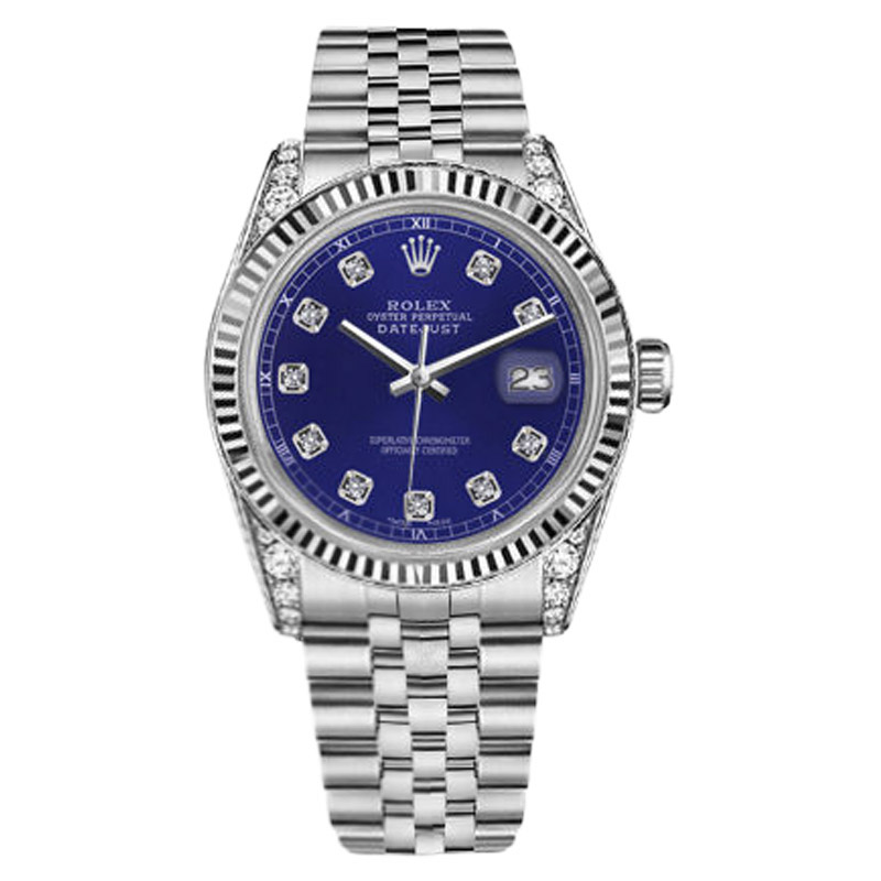 """Image of """"Rolex Datejust Stainless Steel Blue Color Dial with Diamond Accent"""""""