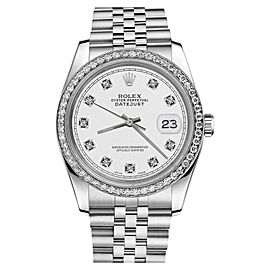 Rolex Datejust Stainless Steel White Color Dial With Diamond Accent RRT 31mm Womens Watch