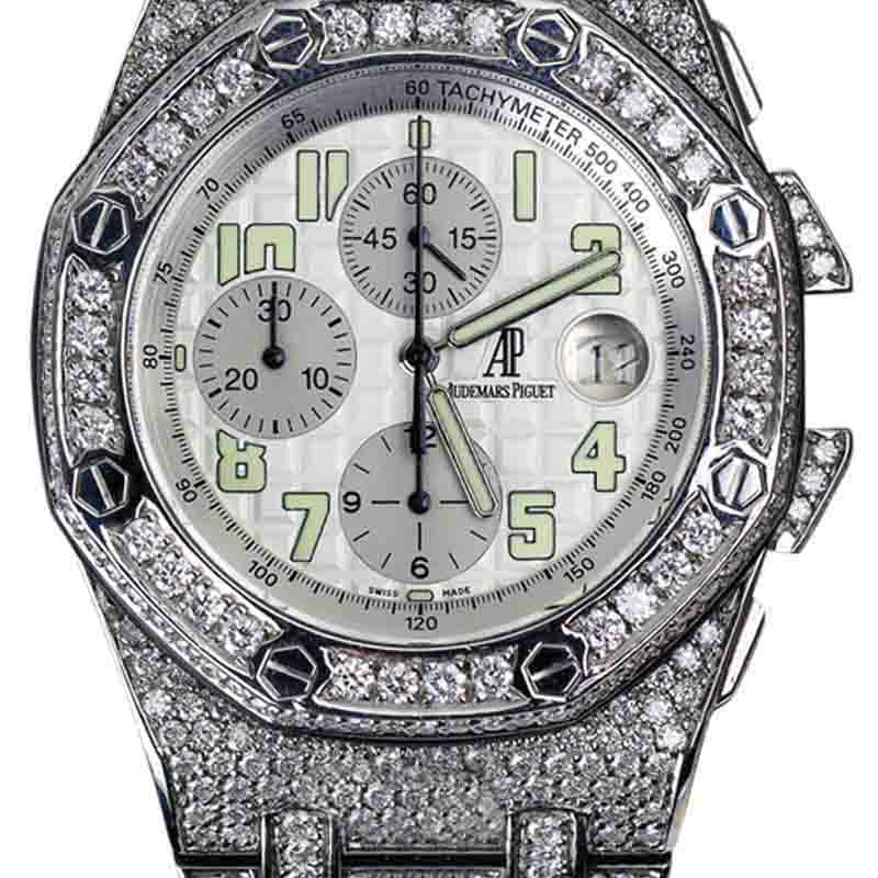 "Image of ""Audemars Piguet Royal Oak Offshore Custom Diamond Stainless Steel 44mm"""
