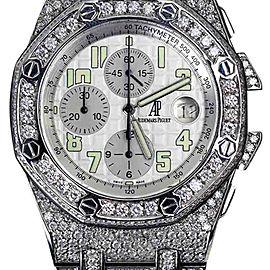 Audemars Piguet Royal Oak Offshore Custom Diamond Stainless Steel 44mm Unisex Watch