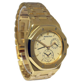 Audemars Piguet Royal Oak Dual Time 25730BA Power Reserve 18K Gold 36mm Mens Watch