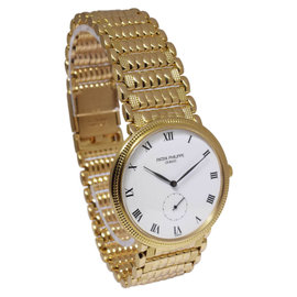 Patek Philippe Calatrava 3919 18K Yellow Gold 34mm Mens Watch