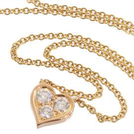 Tiffany & Co. 18K Rose Gold 0.03 Ct Diamond Sentimental Heart Pendant Necklace