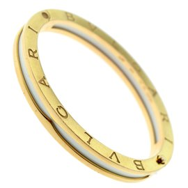Bulgari 18K Rose Gold White Ceramic Bracelet