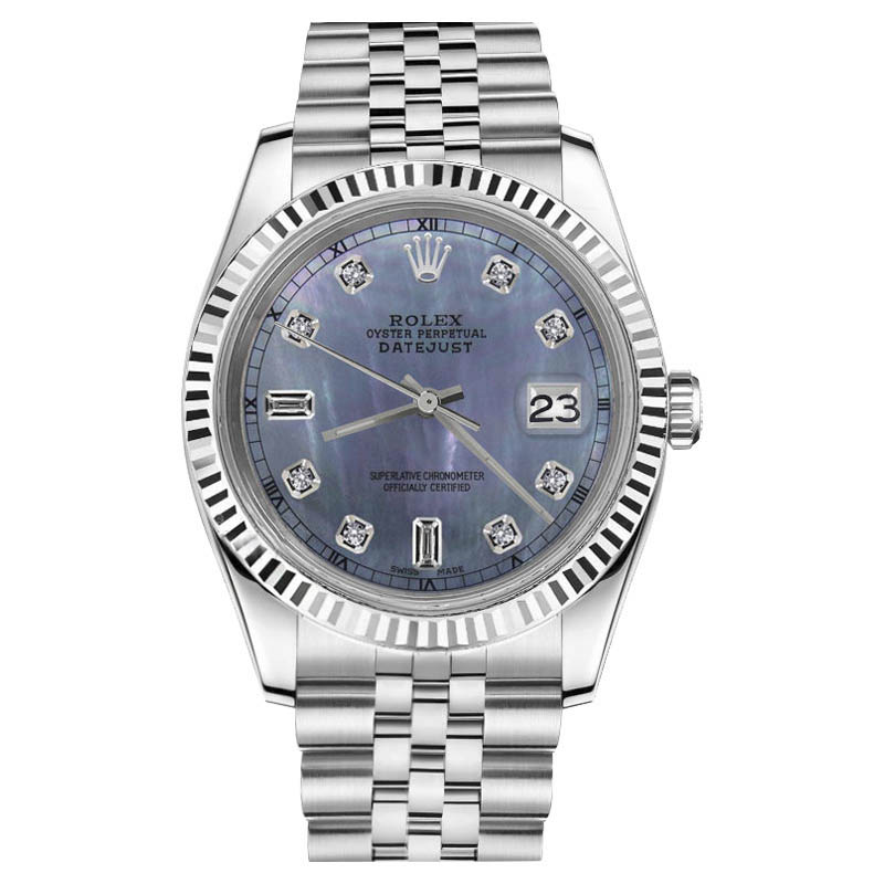"""Image of """"Rolex Datejust Stainless Steel With Tahitian Mother Of Pearl Dial 26mm"""""""