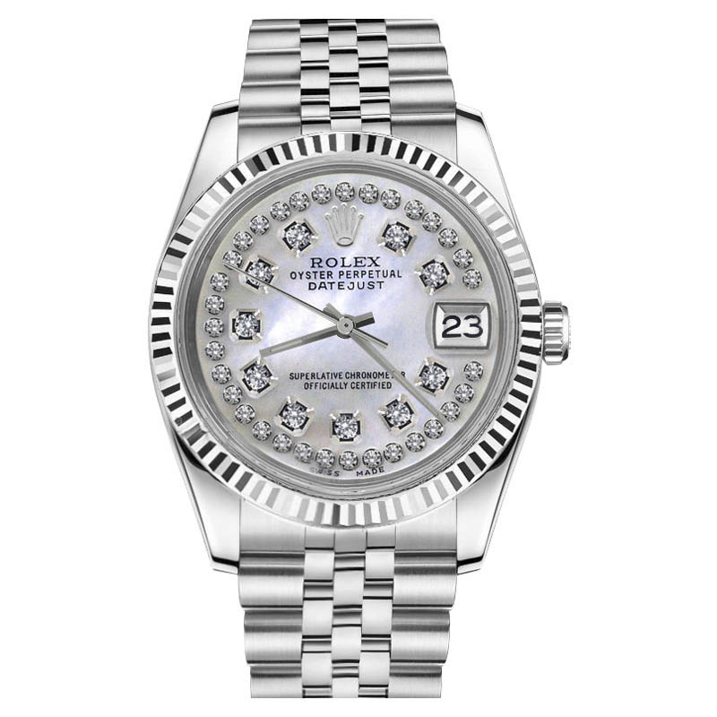 """Image of """"Rolex Datejust Stainless Steel With White Mother Of Pearl Dial 26mm"""""""