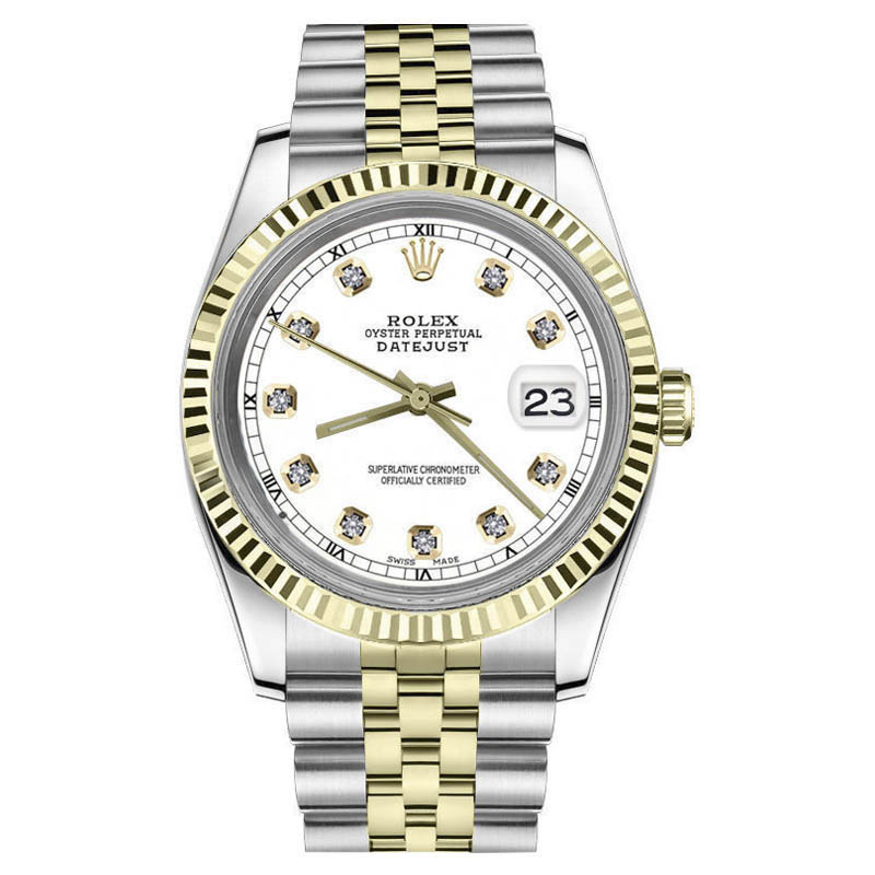 """Image of """"Rolex Datejust 2Tone18K Yellow Gold & Stainless Steel White Dial"""""""