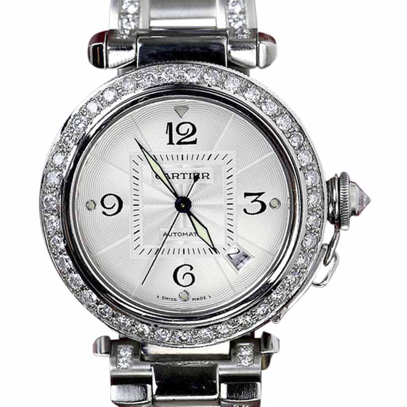"Image of ""Cartier Pasha Stainless Steel 35mm Unisex Watch"""