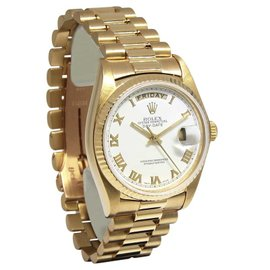 Rolex Day-Date 18038 18K Yellow Gold Vintage 36mm Mens Watch