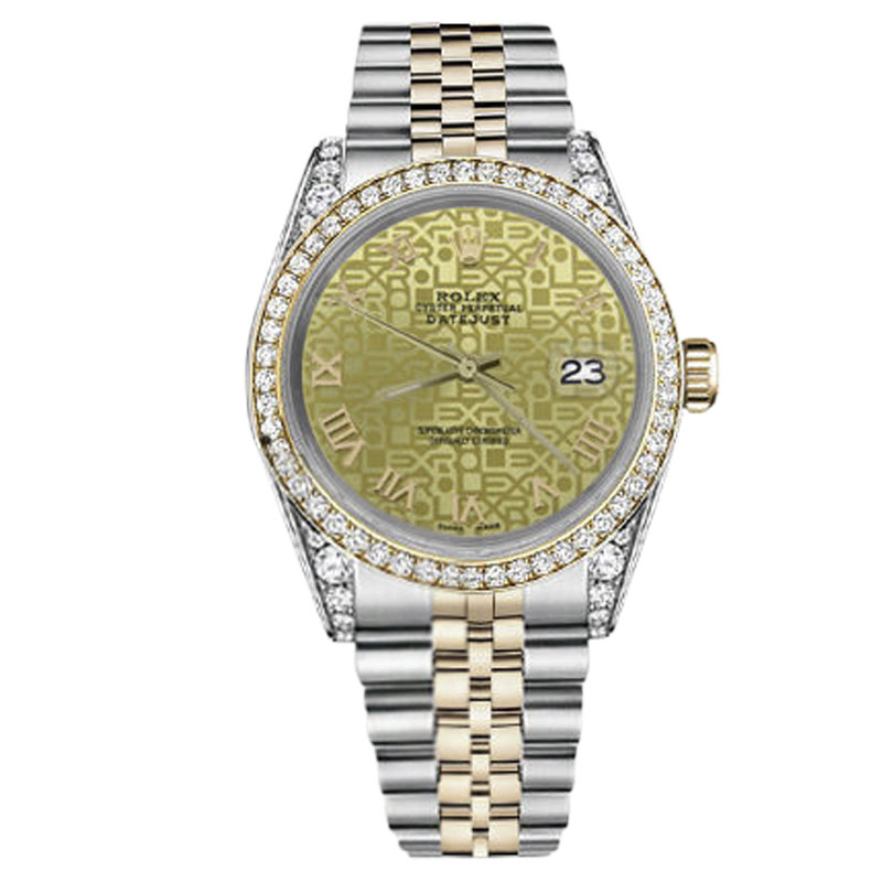 """Image of """"Rolex Datejust Stainless Steel/ 18K Gold Champagne Gold Jubilee Roman"""""""